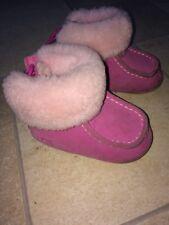 Baby Girls UGG AUSTRALIA Pink Sheepskin Ugg Boots Sz UK 2 EU 18