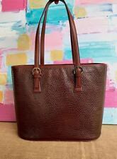SALVATORE FERRAGAMO Brown Lizard Skin Leather Tote Bag Gold Womens Purse ON SALE