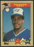 1987 TOPPS TIFFANY #612 GEORGE BELL ALL-STAR