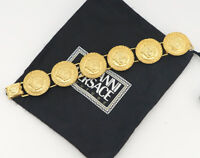 GIANNI VERSACE Medusa Bracelet Gold Tone Bangle #1845