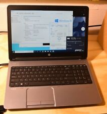 HP ProBook 650 15.6in Laptop computer Windows 10 Pro Activated Webcam Charger