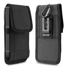Vertical Oxford Phone Holder Belt Clip Loop Pouch Case Cover For iPhone Samsung