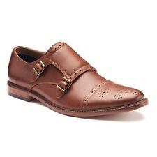 APT. 9 Reiner Monk-Strap Brogue Dress Shoes  Cognac Sz 8M NIB $70