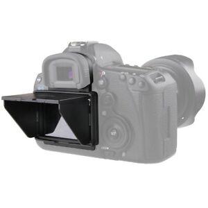 2 in 1 LCD Displayschutzfolie mit Sonnenschutz für Canon EOS 5D III IV 5DS