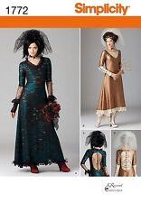 Simplicity 1772 Steampunk Victorian Bridal Dress Costume Pattern Plus Sz 12