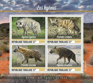 Togo - 2020 Hyenas, Spotted, Brown - 4 Stamp Sheet - TG200308a