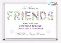 Best Friends Special Friend Mates Friendship Gift Christmas Present XMAS Gift A4