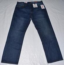 New Men Izod Regular Fit Straight Leg Dark Vintage Blue Jeans W 36 I 30 9133