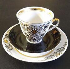 Vintage USSR Latvia Riga Porcelain Factory RPR Tea Coffee Cup & 2 Saucers