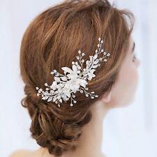 Bridal Hair Comb Pearl Crystal Headpiece Hair Clip Wedding Accessories 02294 S