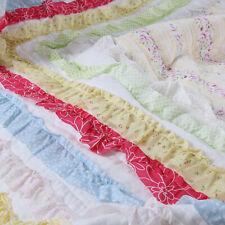 Petri Ruffle Lace Cotton 100%Cotton Quilt Set, Bedspread, Coverlet
