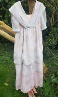 EARLY 1900'S STYLE EVENING DRESS WITH SHORT TRAIN MUSICAL THEATRE, PERIOD DRAMA,