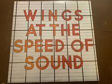 WINGS PAUL McCARTNEY AT THE SPEED OF SOUND VINYL LP