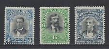 COSTA RICA (G620b) JOSE M CAÑAS, JULIAN VOLIO, OREAMUNO Sc 55-7 MLH 1903