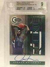 HASSAN WHITESIDE ROOKIE 2010-11 TOTALLY CERTIFIED GREEN AUTO RARE 4/5 BGS 9 MINT