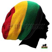 Rasta Slouchy Dreadlocks Tam Hat Beret Cap Reggae Marley Jamaica Rastafari L/XL