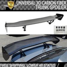 56 Inch Universal Fit 3D Carbon Fiber CF GT Style Trunk Spoiler Rear Wing Deck