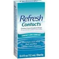Refresh Lubricant Eye Drops For Contact Lens Comfort .4 fl oz Sterile Exp 4/2021