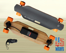 "38"" Electric LongBoard Motorized Remote Skateboard 300W Hub Motor Orange"