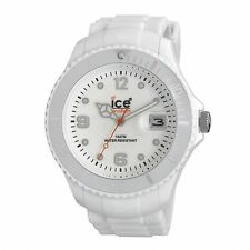 Ice Watch Mens SI.WE.BB.S.11 Large White Dial White Silicone Strap Quartz Watch