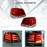 LED Tail Lights For Toyota Landcruiser 200 Series 2008-2011 Red Clear Rear Lamps