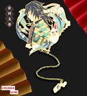 Demon Slayer Kimetsu no Yaiba Tomioka Giyuu Metal Bookmark Mark Tag In Stock