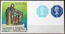GB – 1974 Churchill / Europa Minisheet with Octagonal Stamps RARE – MNH – (Se1a)