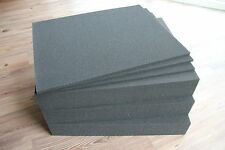 4x Rasterschaumstoff Würfelschaumstoff Fotokoffer 500x400x80mm incl Bodenplatten