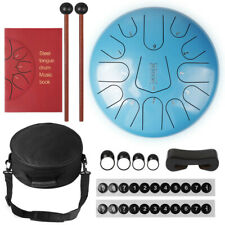 More details for 12 inch 13 notes steel tongue drum handpan hand drums tankdrum with drum mallets