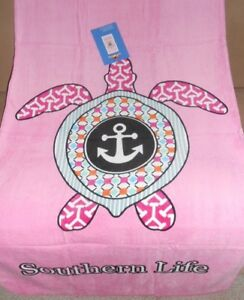 New Pink Sea Turtle Ocean Bath Beach Pool Gift Towel Turtle Southern Life Honu