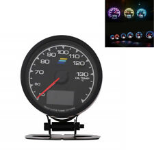 "2.5"" 12V 7Colors LCD Digital Display Car Oil Temp Gauge With Voltage Meter Gauge"