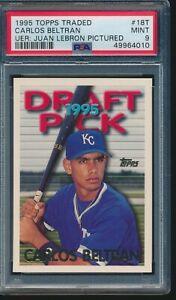 1995 Topps Traded Carlos Beltran Error Rookie RC #18T PSA 9 MINT