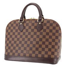 LOUIS VUITTON Alma Hand Bag Damier N51131 Brown Vintage Authentic #RR334 S