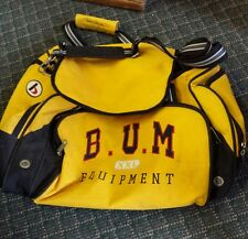 Vintage 90s BUM Equipment XXL Rare Bright Yellow Heavy Travel Retro Gym Bag
