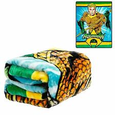 DC Comics Classic Aquaman Justice League Atlantis Twin Size Plush Throw Blanket