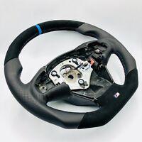 Aplati Noir Alcantara Volant en Cuir BMW F25 X3 F26 X4 Volant Bleu