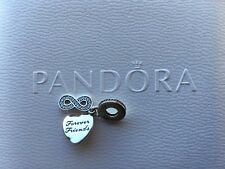 Authentic Pandora Sterling Silver Charm Bead Forever Friends Dangle Heart 925