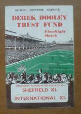 More details for sheffield xi v international xi, 09/03/1955 - d. dooley's testimonial programme.