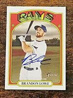 2021 Topps Heritage BRANDON LOWE Real One AUTO Rays Autograph