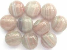 10 PASTEL lentil Czech glass beads 13mm
