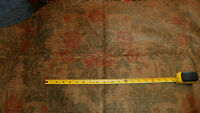 Tan Green Persimmon Flower Print Upholstery Fabric Remnant  F71