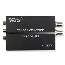 Wiistar AV CVBS TO 3G-SDI Audio Video Converter Support 1080P for CRT HDTV