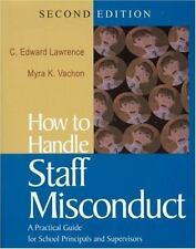 (9) How to Handle Staff Misconduct: A Practical Guide..LOT OF 9 BRAND NEW BOOKS