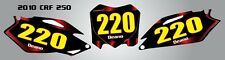 Custom Number plates for Honda CRF 250 - 2010 2011 2012 2013 decals stickers