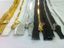METALLIC TEETH  ZIP 20inch(52cm) LONG OPEN ENDED, 5 COLOURS AVALIBLE