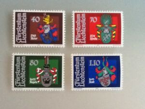 Liechtenstein 1981 SG#763-6 Arms Of Bailiffs MNH.