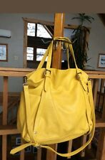 ZARA Yellow Tote Shoulder Bag Purse Large Roomy And Clean Just Gorgeous!