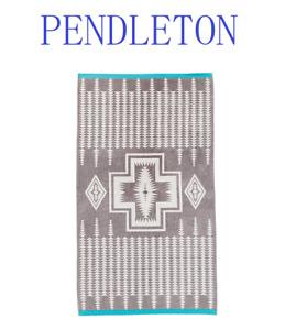 SALE  Pendleton - Oversized Jacquard Towel - Harding Grey