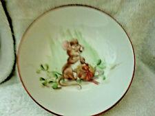 1980 Jane Lamm Hand-Painted Bowl W/Christmas Mouse Decor
