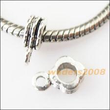 20 New Square Tibetan Silver Bail Bead Fit Bracelet Chrams Connectors 8x11.5mm